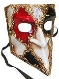 Deluxe maskuline Traditionelle Handgemachte Bauta (Venezianischer Karneval Full Face Maske