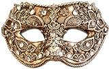 Karneval Venezianische Maske - Colombina macrame argento