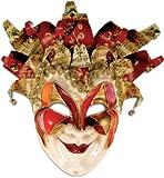 Karneval - Halloween - venezianische Maske - Jolly Grande rosso