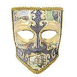 Hophen Bauta Maskerade Venezianische Maske Karneval Halloween Unisex Kostüm Deko Basteln 19 * 21 * 12cm Dark Purple2
