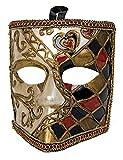 Festartikel Hirschfeld Venezianische Bauta-Maske gold Einheitsgröße