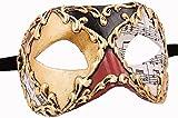 Venezianische Maske Damen Unisex Colombina Musica Handarbeit Original Karneval Masken Venezianisch aus Venedig für Maskenball Fasching oder Party