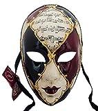 Lannakind Venezianische Maske Gesichtsmaske Volto Damen Karneval, Ballmaske, Wand-Deko (Vl1)
