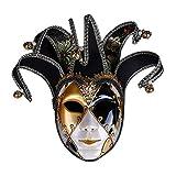 BYYLH Maske Maskerade Cosplay Weihnachten Halloween Venezianisch Spiel,Black