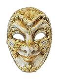 Venezianische Vollmaske Volto Jester Musica für Männer (gold)