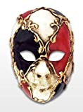 Venezianische Mini Maske Deko Gesicht Volto buntes Schachmuster