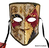 LannaKind Venezianische Maske Casanova Bauta Ballmaske Karneval Fasching Herren (Bauta18)