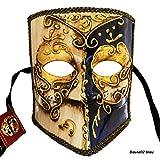 LannaKind Venezianische Maske Casanova Bauta Ballmaske Karneval Fasching Herren (Bauta02)
