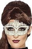 Venezianische Augenmaske Spitze weiss Einheitsgröße