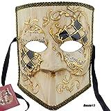 LannaKind Venezianische Maske Casanova Bauta Ballmaske Karneval Fasching Herren (Bauta15)