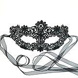 Atemberaubende schwarzer Spitze Venezianische faschingsmasken Maskerade maskenball Maske Damen - Coachella