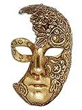 Venezianische Vollmaske Volto Luna Mac für Männer und Frauen (gold)