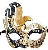 LannaKind Handgefertigte Venezianische Maske Augenmaske Colombina (C01)