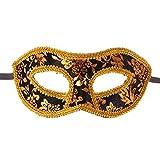 Toyvian Herren Maskerade Maske Kostüm Prom Party Halbes Gesicht Spitze Halloween Ball Weihnachten Maske (Schwarz)