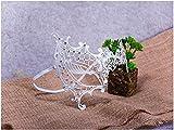 Xiton venezianischen Hohlen Gesicht Prinzessin Halbmaske mit Schlanken Metall Diamant, Halloween Sexy Spitzen-Maske für Maskerade Party, Hochzeiten, Fasching, Karneval in Venedig und Tanz, weiß