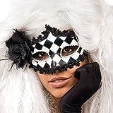 Carnival Toys 00812 - Maske, schwarz/Rose