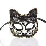 Iceclubs Maske - Party Ball Kit Maske - Weihnachten / Halloween / Karneval - Schwarz,Maskerade Maske Musical Party Glocken Mardi Gras Party Venedig Halloween