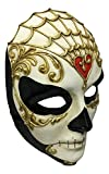 Damen Volto Full Face Day Of The Dead traditionellen venezianischen Masquerade Maske mit Gothic Twist