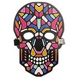 7Lucky Sound Reaktive LED Halloween Masken,Sound Reactive LED Maske Tanz Rave Licht Einstellbare Maske Für Festival,Cosplay,Halloween,Kostüm,Batterie Angetrieben (F)