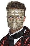 Smiffy's 27637 - Luxus Venetian Bauta Maskerade-Masken, gelb-