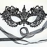 Gorgeous All Lace Goddess Black Masquerade Mask by Samantha Peach