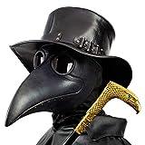 PartyCostume - Schwarz Pest Arzt Maske - Lange Nase Vogel Schnabel Steampunk Halloween Kostüm Requisiten Maske