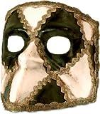 Venezianische Maske Bauta Schachbrett schwarz-weiß zu Karneval