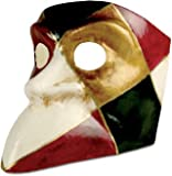 Venezianische Maske Bauta arlecchino Harlekin in bunt zu Karneval