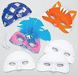 Baker Ross EV1246 Ross Masken aus Plastik zum Basteln und Bemalen - Karnevalsmasken - für Kinder ideal zum Kindergeburtstag und Karneval - 8 Stück