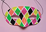 Farbenfrohe Maske 'Harlekin' (Clown/venezianischer Karneval)