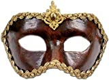Metamorph Karneval / Kostüm / Halloween Venezianische Maske - Colombina cuoio