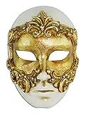 Magic of Venezia Venezianische Vollmaske Volto Baroque für Männer und Frauen (Gold)