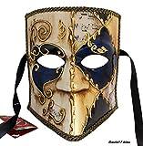 LannaKind Venezianische Maske Casanova Bauta Ballmaske Karneval Fasching Herren (Bauta17)