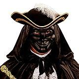 NET TOYS Einzigartige Anonymous Maske für Männer & Frauen - Schwarz - Aufregende Unisex-Maskerade Phantom Karneval in Venedig - Wie geschaffen für Fasching & Karneval