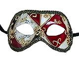 Lannakind Handgefertigte Venezianische Maske Augenmaske Colombina Ballmaske Damen und Herren (C1)