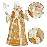 Widmann - Kostüm Venezianische Edeldame, Kleid mit Reifunterrock, Umhang, Adelige, Baronin, Barock, Maskenball, Mottoparty, Karneval