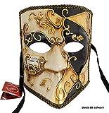 Lannakind Venezianische Maske Casanova Bauta Ballmaske Karneval Fasching Herren (Bauta06)