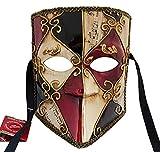Lannakind Venezianische Maske Casanova Bauta Ballmaske Karneval Fasching Herren (Bauta11)