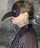 Fantasy Venezianische Pest-Maske in schwarz