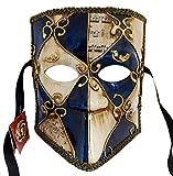 LannaKind Venezianische Maske Casanova Bauta Ballmaske Karneval Fasching Herren (Bauta09)