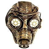 Ubauta Steam Punk Phantom der Oper Vintage mechanische Männer venezianische Maske für Maskerade / Party / Ball Prom / Halloween / Karneval (Gold Punk Gas Maske)