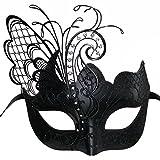 CCUFO Maskerade Maske für Frauen Venezianische Maske / Halloween / Party / Ball Prom / Karneval / Hochzeit / Wanddekoration-Schwarzer Schmetterling Maske