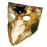Unbekannt Venezianische Maske - Bauta scacchi Musica Nero