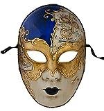Lannakind Venezianische Maske Gesichtsmaske Volto Damen Karneval Ballmaske Maskerade Wand-Deko V06
