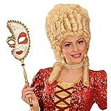 NET TOYS Venezianische Maske Barock Stabmaske Venedig Ballmaske Gold Rokoko Opernmaske am Stab Maskenball Faschingsmaske Opern Karnevalsmaske Karneval Kostüm Accessoires