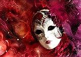 Yiyai DIY 5D Venezianische Maske Frau Full Diamond Painting Kreuzstich-Kits Kunst Hochwertige Porträt 3D-Farbe von Diamanten-Rundbohrer 30x40CM