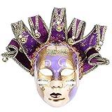 Hophen Volto Musik venezianische Jester Maske Maskenade Halloween Party Bell Joker Wand Deko Art Collection Maske 28.15 * 18.5in violett
