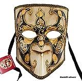 LannaKind Venezianische Maske Casanova Bauta Ballmaske Karneval Fasching Herren (Bauta08)