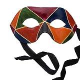 Venezianische Maske - Colombina Arlecchino de Cuoio Venezianische Ledermaske