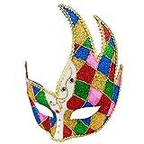 Boland 00200 - Augenmaske Venice jester, Einheitsgröße, mit Glitzer- und Schmucksteinen, 16 mal 21 cm, Karneval, Themenparty, Mottoparty